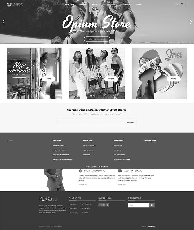 La boutique officielle Opium Store